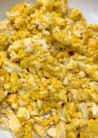 木綿豆腐と卵
