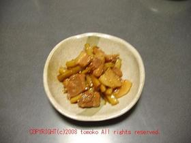 ゴボウと豚バラ肉の炒め煮