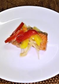 鮭の南蛮漬け 柚子胡椒風味