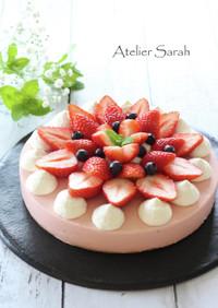 苺ジャム♪ストロベリーレアチーズケーキ