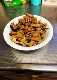 【お弁当用】豚挽肉とレンコンの炒め煮