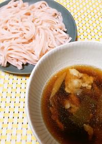 長ネギと豚肉の素麺の温かいつけだれ