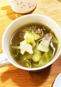 春キャベツとベーコンの塩麹コンソメスープ