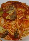 ブロッコリーと海老のピリッ!トマトパスタ