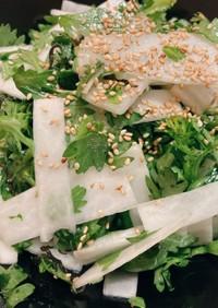 簡単!5分で♪春菊と大根のサラダ