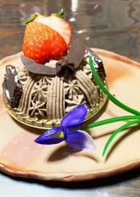 端午の節句★兜の生チョコケーキ♪