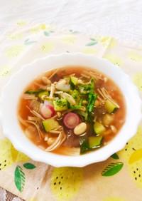 さっぱり☆豆と野菜のトマトスープ