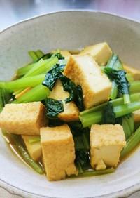 小松菜煮浸しにカレールーを入れてみた
