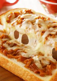なめ茸チーズトースト