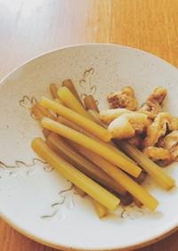 フライパンで作るフキの煮物