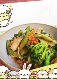 マクロビ☆春夏野菜ときのこのサラダ
