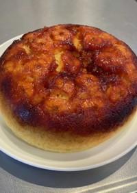 炊飯器でカラメルバナナケーキ