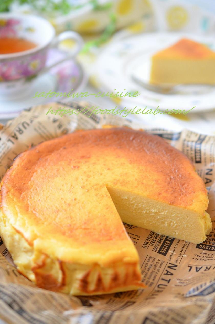 低カロリーでも満足♡バスク風チーズケーキ