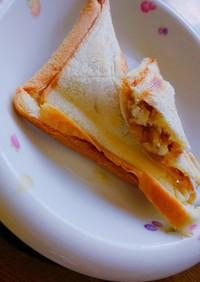 クリームチーズとクルミのホットサンド