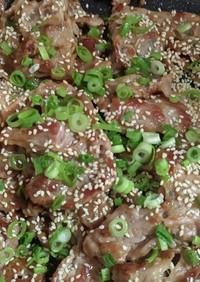 豚コマのパリパリ生姜焼き