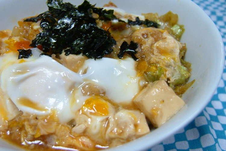 豆腐 卵 丼
