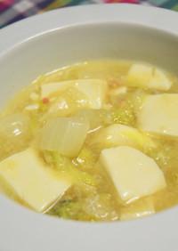 白菜と豆腐のカニ缶とろとろ煮