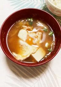 キムチと卵のスープ
