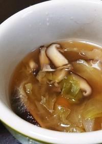 椎茸とレタスの中華スープ