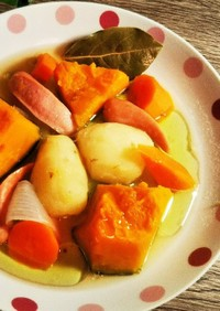 うどんスープの素で作る洋風煮物