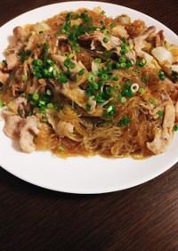 簡単☆豚肉と白菜の春雨煮