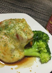 鶏もも肉とコールラビのステーキ