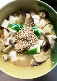 レンジ豚こまピリ辛うま煮味麻婆豆腐茄子