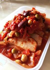 フライパンde鶏胸肉のトマト煮☆