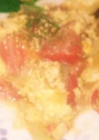 トマトと玉ねぎのバタースクランブルegg