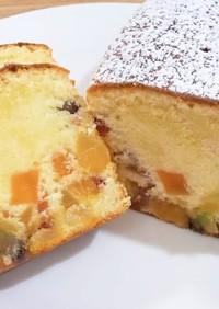 ドライフルーツを使ったパウンドケーキ