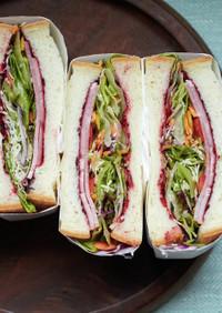 ビーツのサンドイッチ
