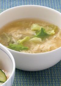 越前レタスと卵のスープ【JA福井県】