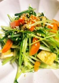 簡単レンチン水菜のお浸し
