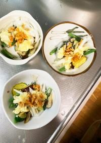 レンジ手作りクリームチーズで根菜洋風小鉢