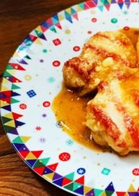 鶏むね肉の柔らか照り焼きピザ風