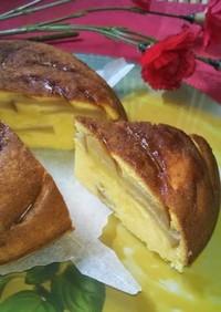 炊飯器でシナモン薫るアップルケーキ