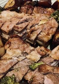 ダッチオーブンで豚バラロースト