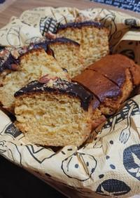 しっとり蜂蜜チョコパウンドケーキ。