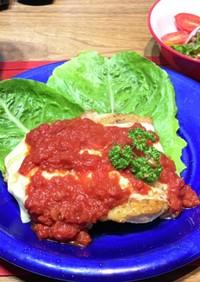 トマトソースとチーズのチキンソテー