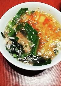 糖質制限 鯖とキムチのスープ ダイエット