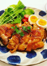 鶏もも肉の洋風照り焼き