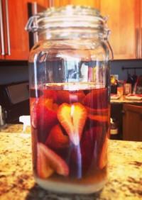 苺のウイスキー