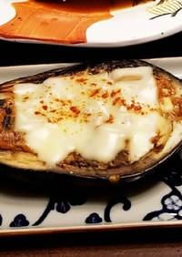 フライパンで簡単蒸し焼き♪茄子チーズ田楽