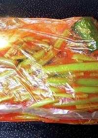 春~秋の山菜 赤ミズのキムチ