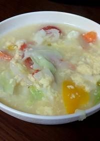 野菜たっぷり卵スープ