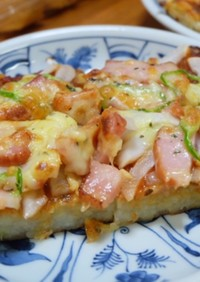 簡単!トースター使用じゃがいも生地のピザ