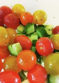 きゅうりとプチトマトのハニーマリネ