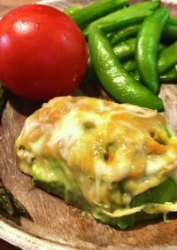 アボガドのマスタード&チーズ焼き