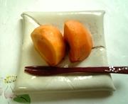 柿が種に当たらず綺麗に切れる方法の写真