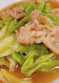 キャベツと豚バラの野菜炒め